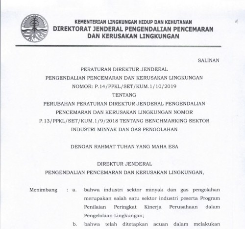P-14 2019 Benchmarking Migas Pengolahan