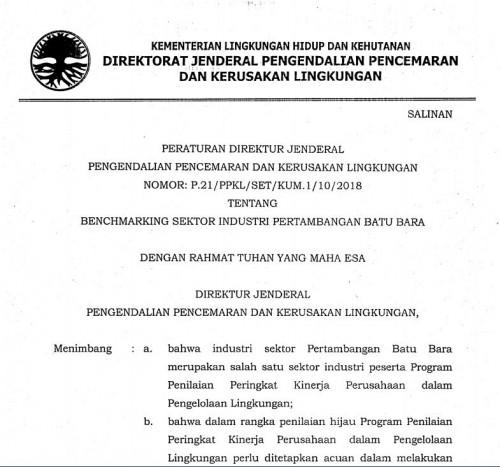 P-21 2018 Benchmarking Tambang Batubara