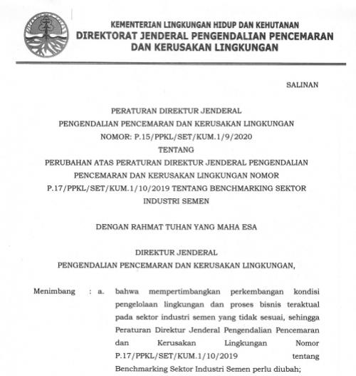P-15 2020 Benchmarking Industri Semen